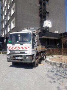 Автовишка работа на обект в гр. Пловдив